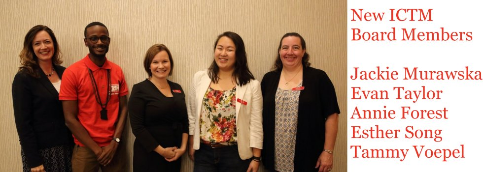 ICTM 2016 New Board Members